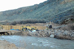 Virgin River Fish Barrier - JP Excavating